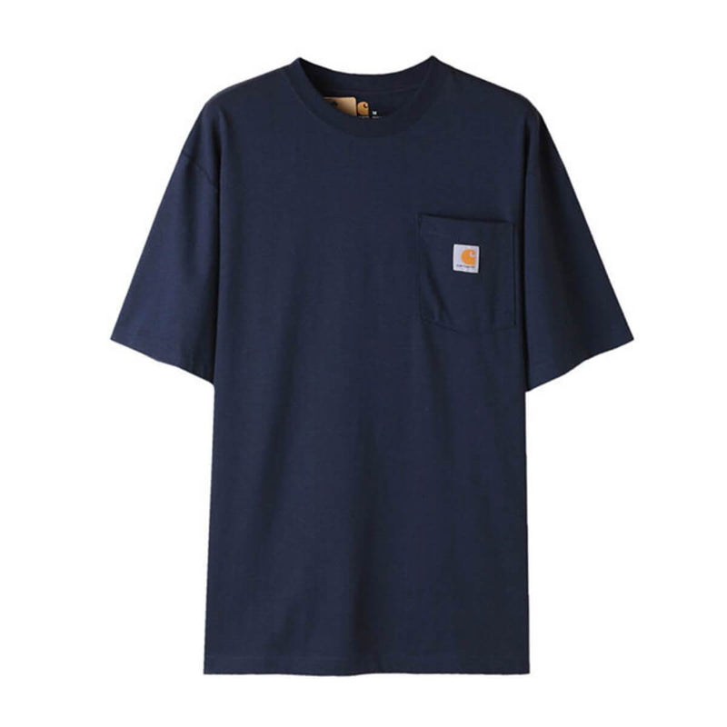 Carhatt Korea Workwear Pocket Oversized T-shirt K87 styleupk Navy S