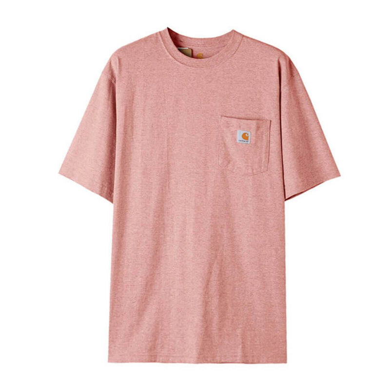 Carhatt Korea Workwear Pocket Oversized T-shirt K87 styleupk Red Snow Heather S