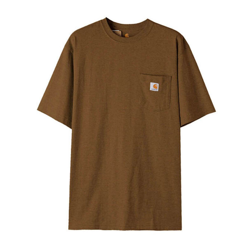 Carhatt Korea Workwear Pocket Oversized T-shirt K87 styleupk Walnut Heather S
