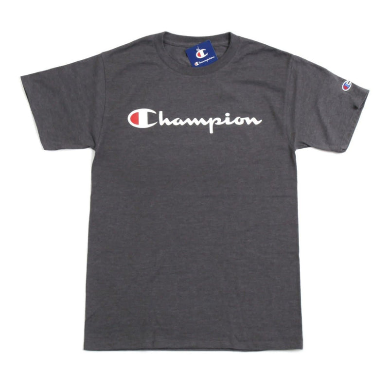 Champion Korea Script Graphic Logo T-shirt GT23H styleupk Charcoal S