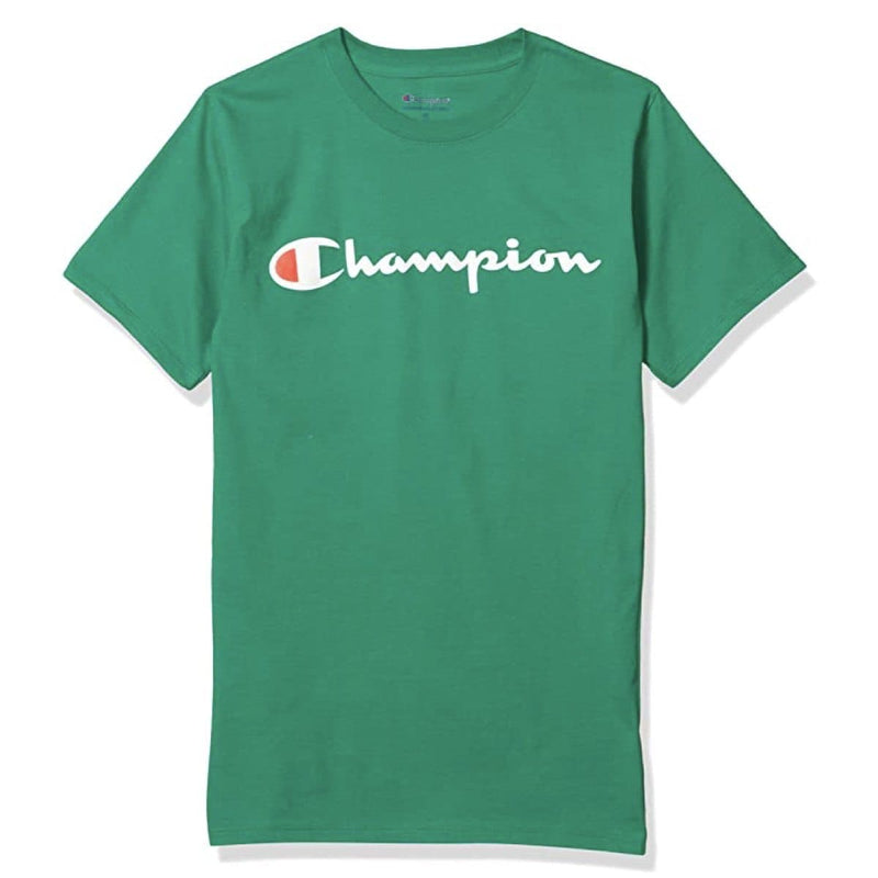 Champion Korea Script Graphic Logo T-shirt GT23H styleupk Dark Green S