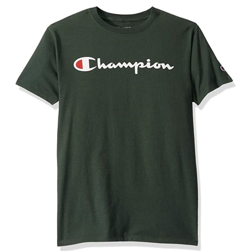 Champion Korea Script Graphic Logo T-shirt GT23H styleupk Forest Green S