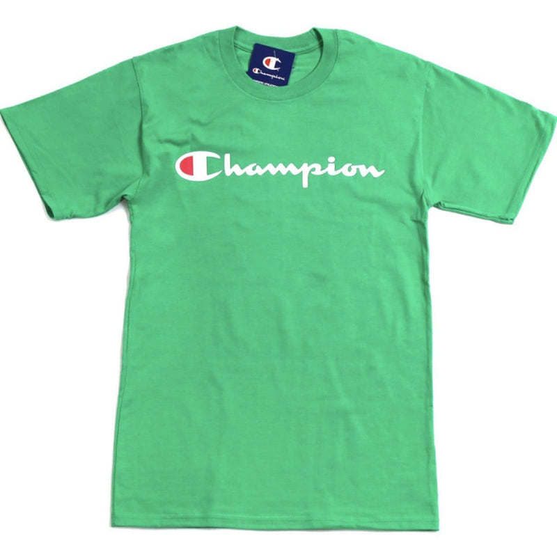 Champion Korea Script Graphic Logo T-shirt GT23H styleupk Light Green S
