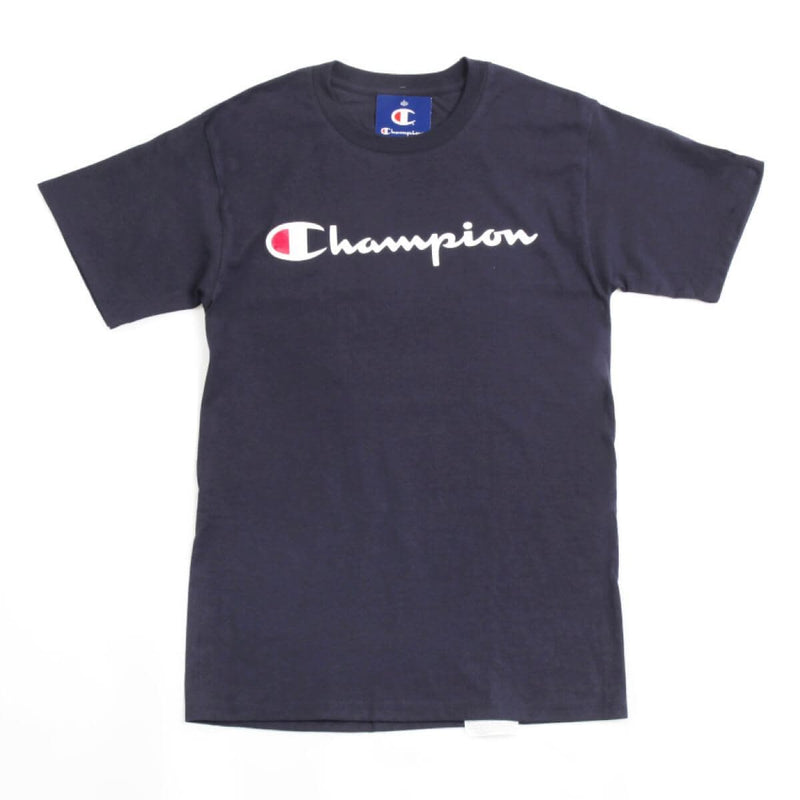 Champion Korea Script Graphic Logo T-shirt GT23H styleupk Navy S