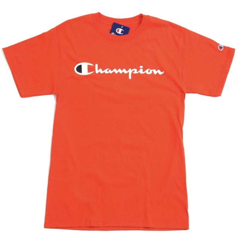 Champion Korea Script Graphic Logo T-shirt GT23H styleupk Orange S