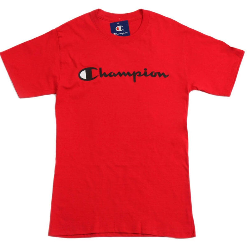 Champion Korea Script Graphic Logo T-shirt GT23H styleupk Red S