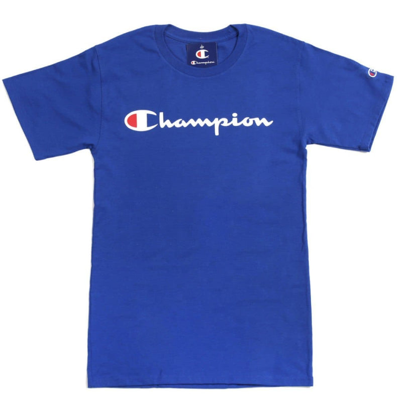 Champion Korea Script Graphic Logo T-shirt GT23H styleupk Royal Blue S