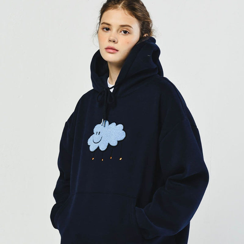 Dominant Cloud Embroidery Oversized Hoodie Dominant