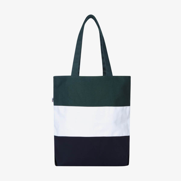 Fila Korea Color Block Heritage Tote Ecobag Green styleupk