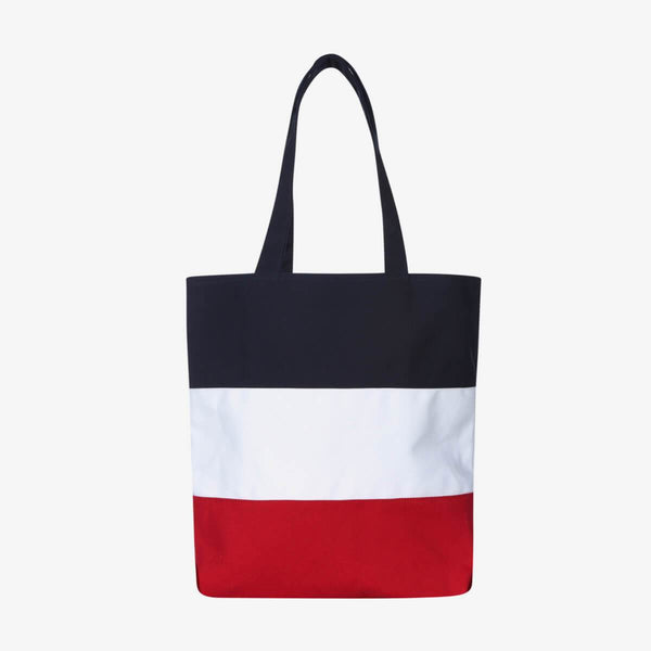 Fila Korea Color Block Heritage Tote Ecobag Red styleupk