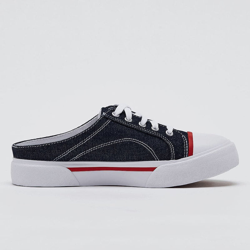 Fila Korea Como Mule Slip-on Sneakers Navy Denim styleupk