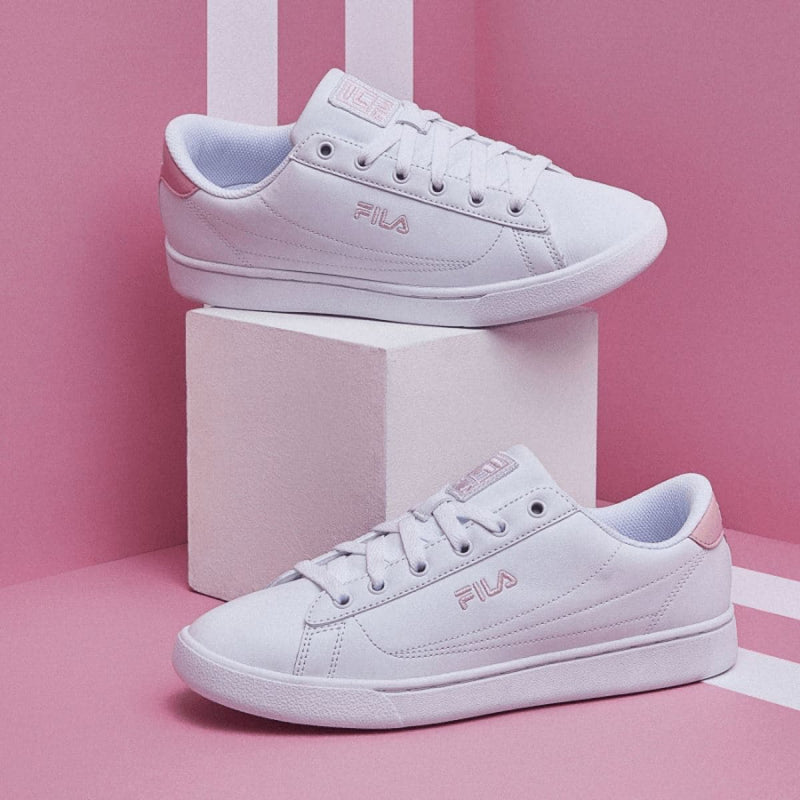 Fila Korea Court Ace Sneakers White Pink styleupk
