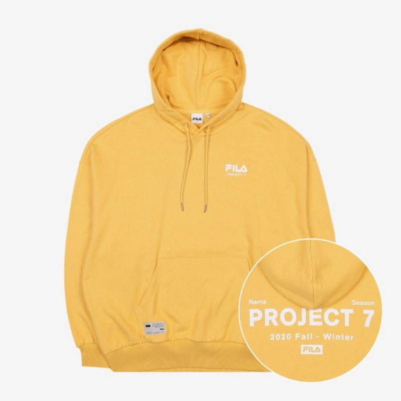 Fila Korea X Bts Project 7 Hoodie Yellow styleupk