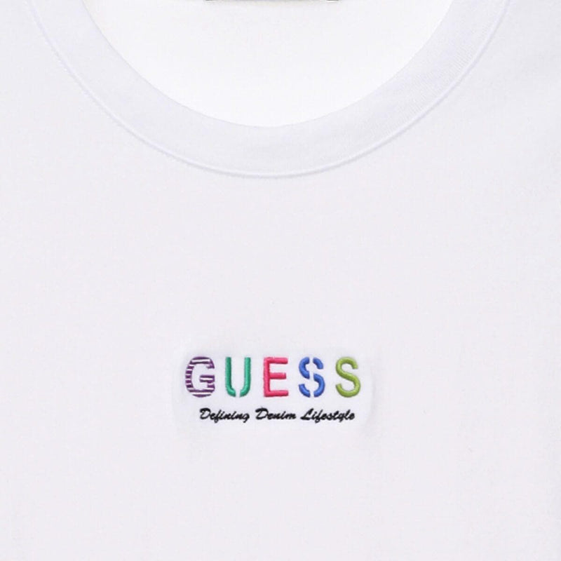 Guess Rainbow Mini Embroidery Semi Oversized T-shirt styleupk