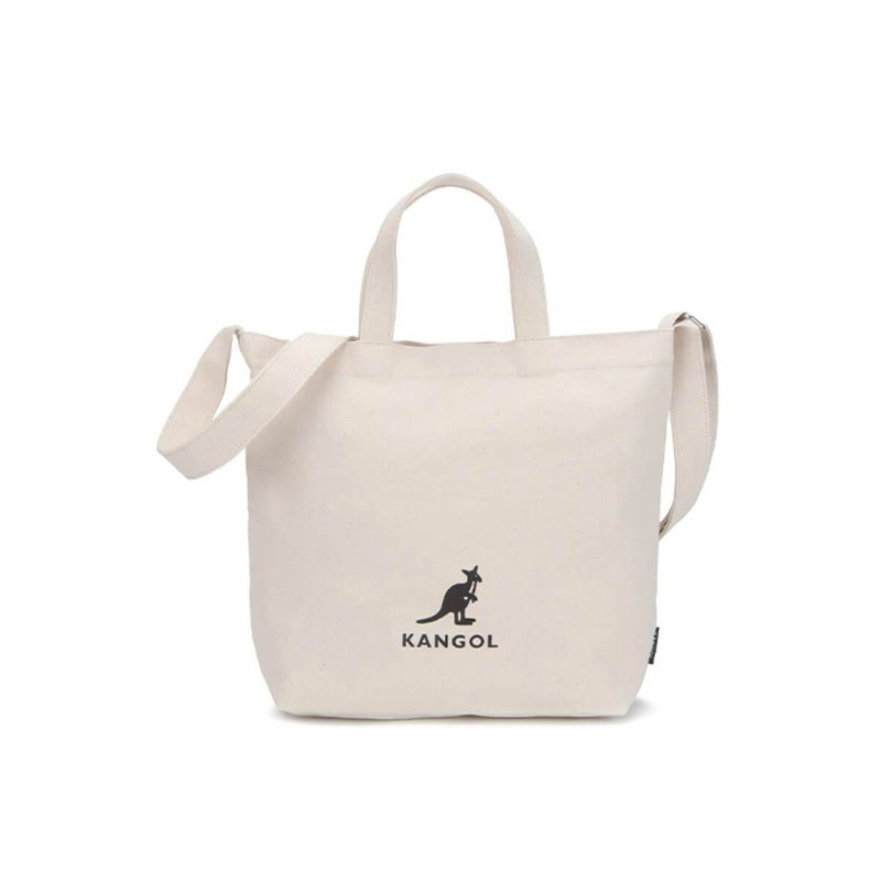 Kangol Korea Canvas Shoulder Bag Zippi Medium Cream styleupk