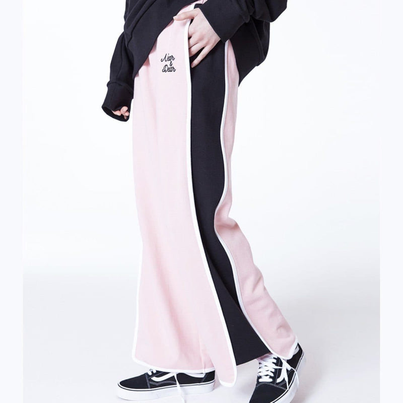 Near & Dear Color Combi Long Wide Sweatpants Near & Dear
