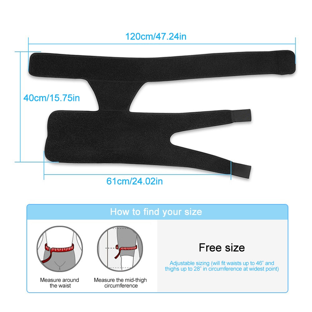 Compression Brace for Hip Thigh with Adjustable Strap