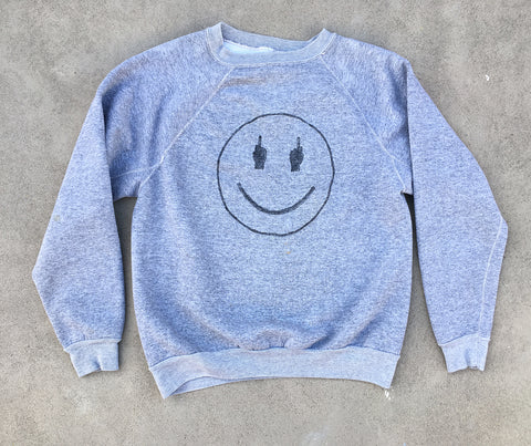 TRS SMILE Heather Grey Sweatshirt - M