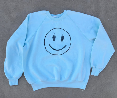 TRS SMILE Light Aqua Sweatshirt