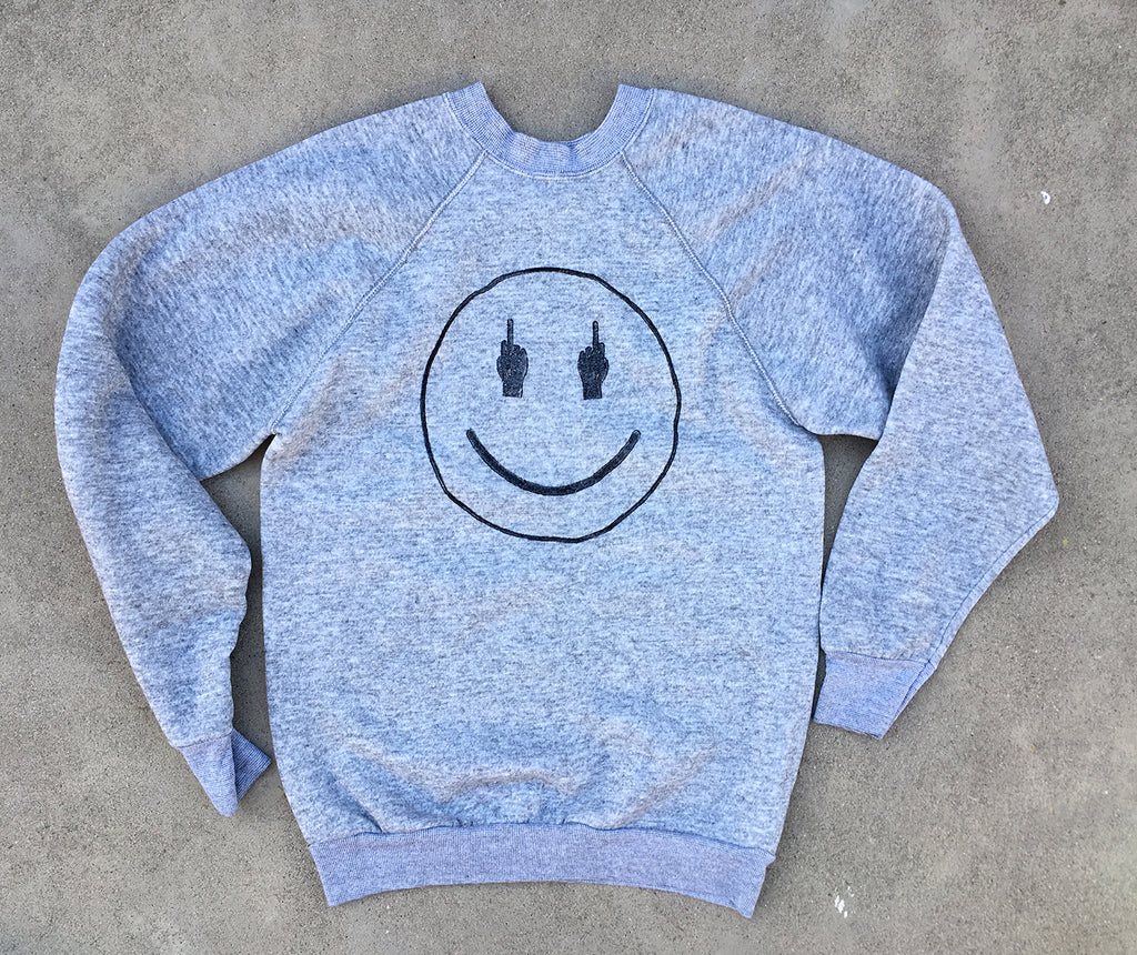 TRS SMILE Heather Grey Sweatshirt - XS/S