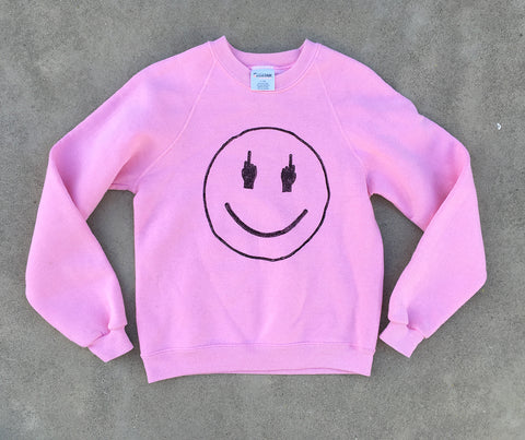 TRS SMILE Bubble Yumm Pink Sweatshirt