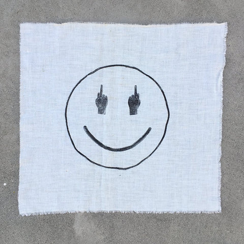 TRS SMILE Print on Vintage Cloth