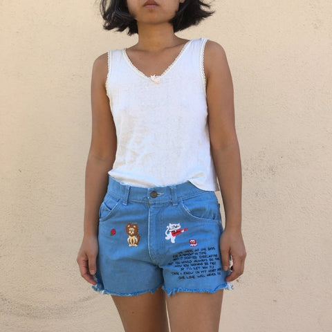 TRS ReMade Denim Shorts w/ embroidery