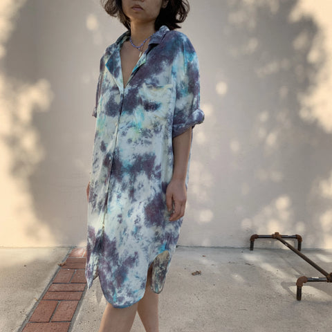 TRS Tie Dye Silk Shirt Dress