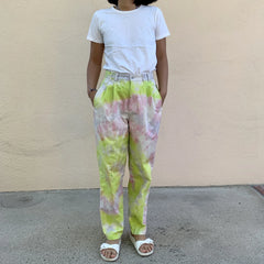 "TRS Tie Dye Cotton Trousers - 27"" Waist"