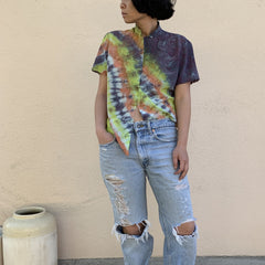 TRS Tie Dye Chinese Silk Blouse