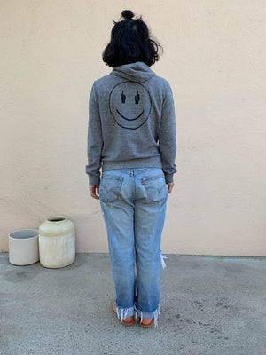 TRS SMILE Heather Grey Hoodie Sweatshirt