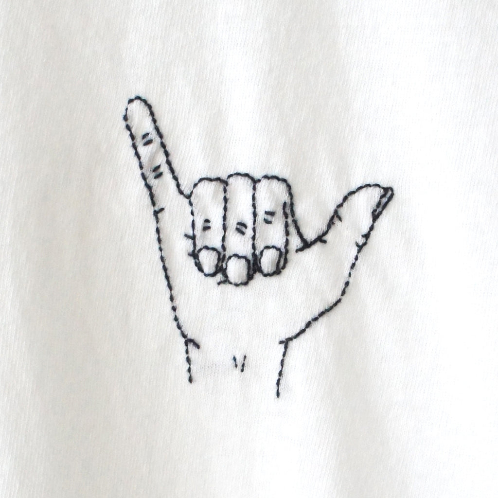 Shaka Finger Embroidery Tshirt