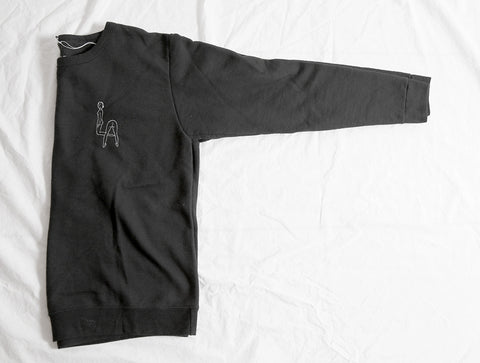 'Booty LA' Embroidery Sweatshirt - Black