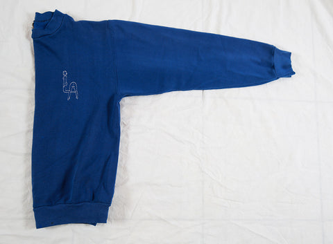 'Booty LA' Embroidery Sweatshirt - Royal Blue