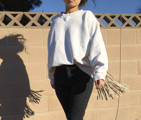 TRS Repaired Fringe Sweatshirt