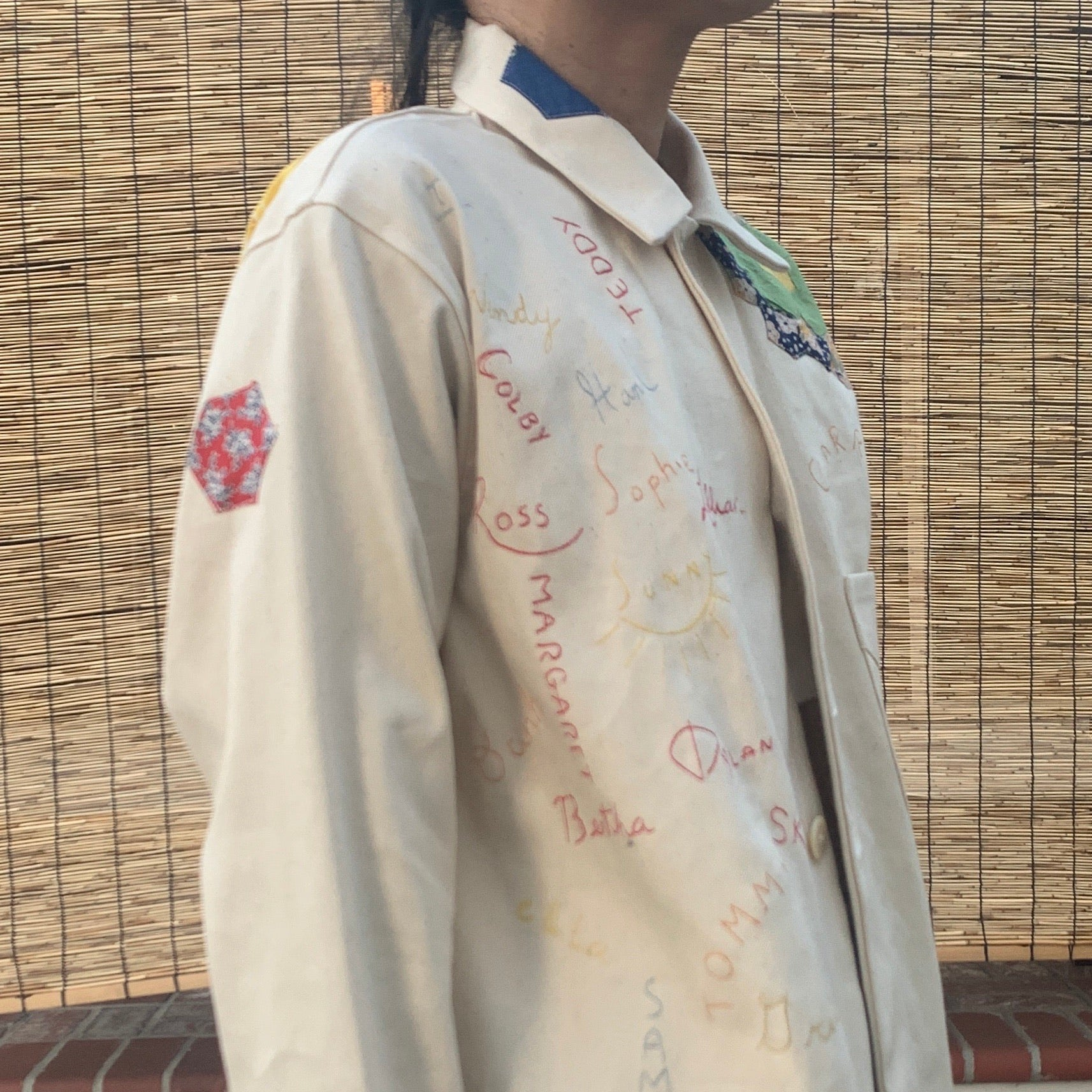 Chore Cotton Jacket- Quilted appliqué