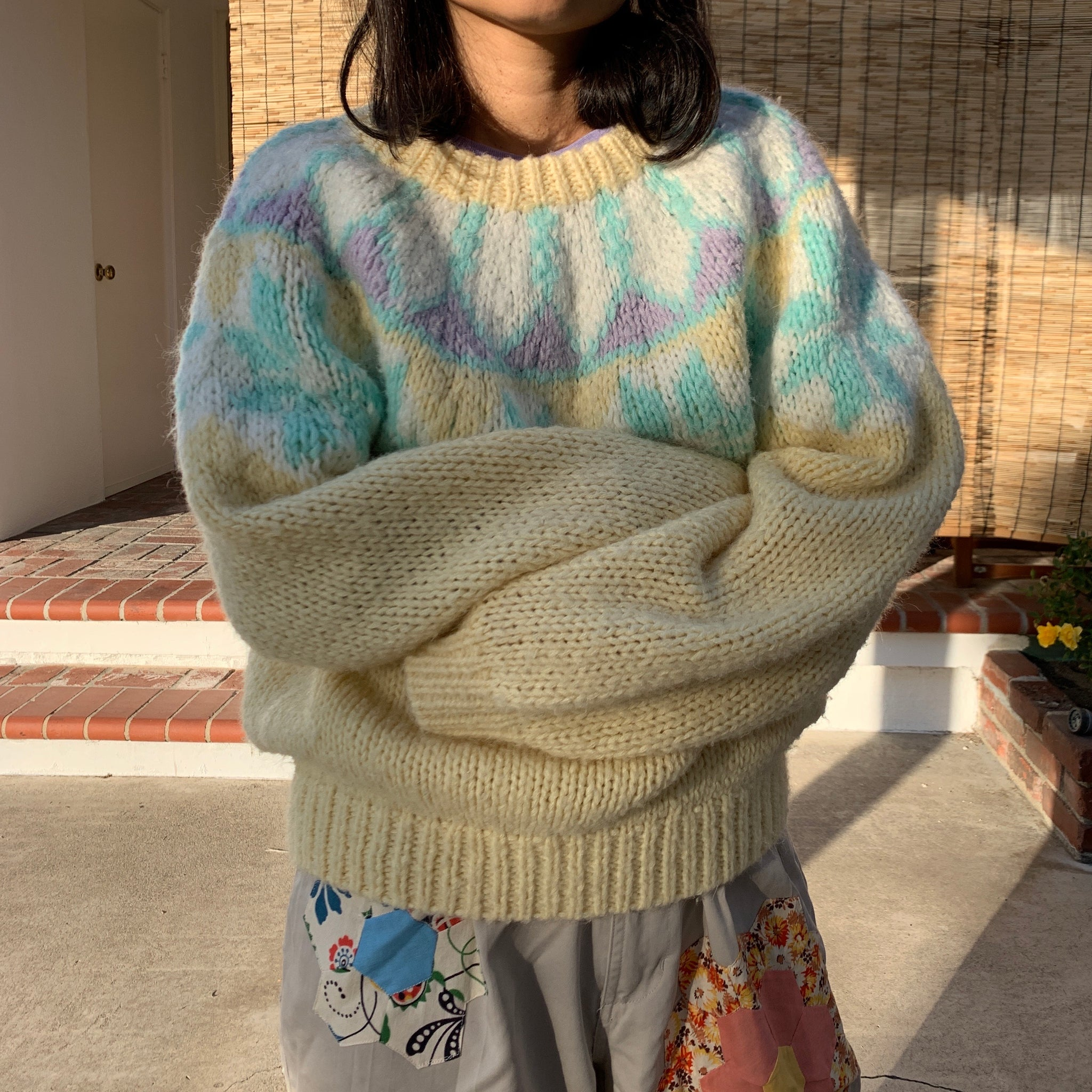 Hand Knit Fairaisle Sweater