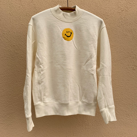 SMILE Sweatshirt - White Turtleneck