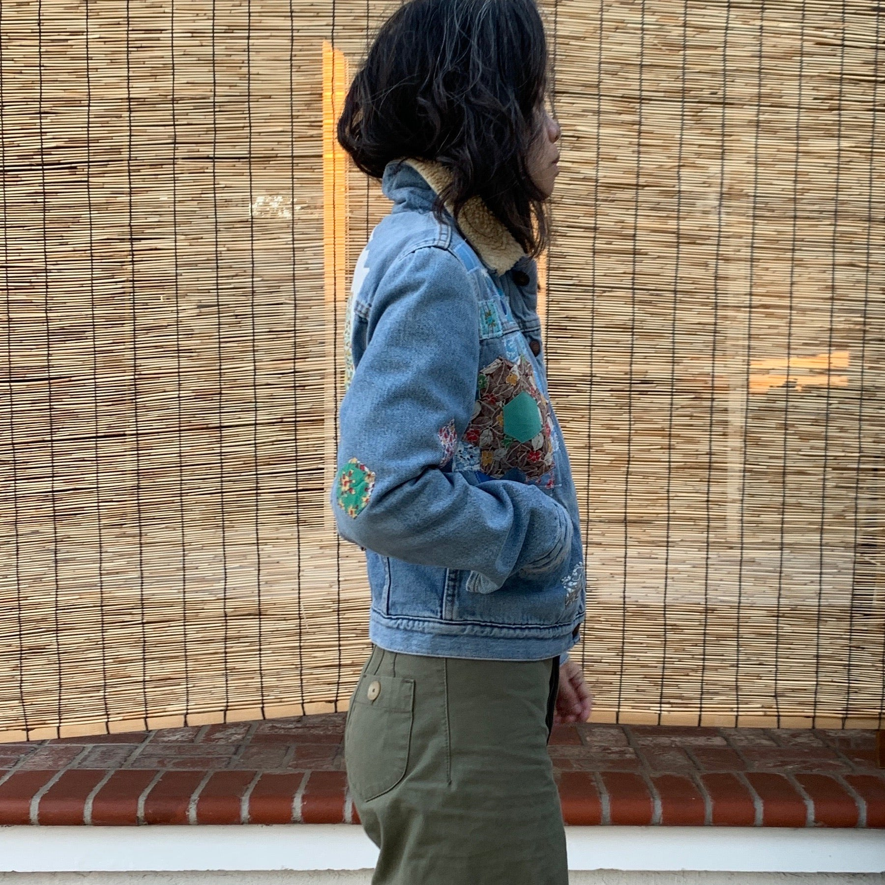 Denim Jacket- Quilted appliqué