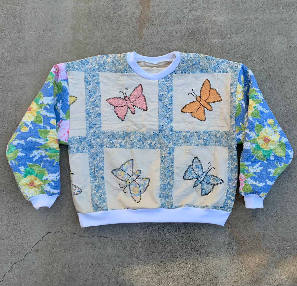 The Classic Crew Neck - Butterflies