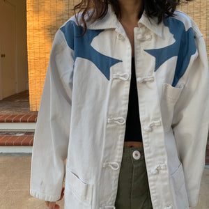 Denim Jacket - Swallow appliqué