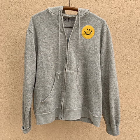 SMILE Sweatshirt - Heather Grey Zip
