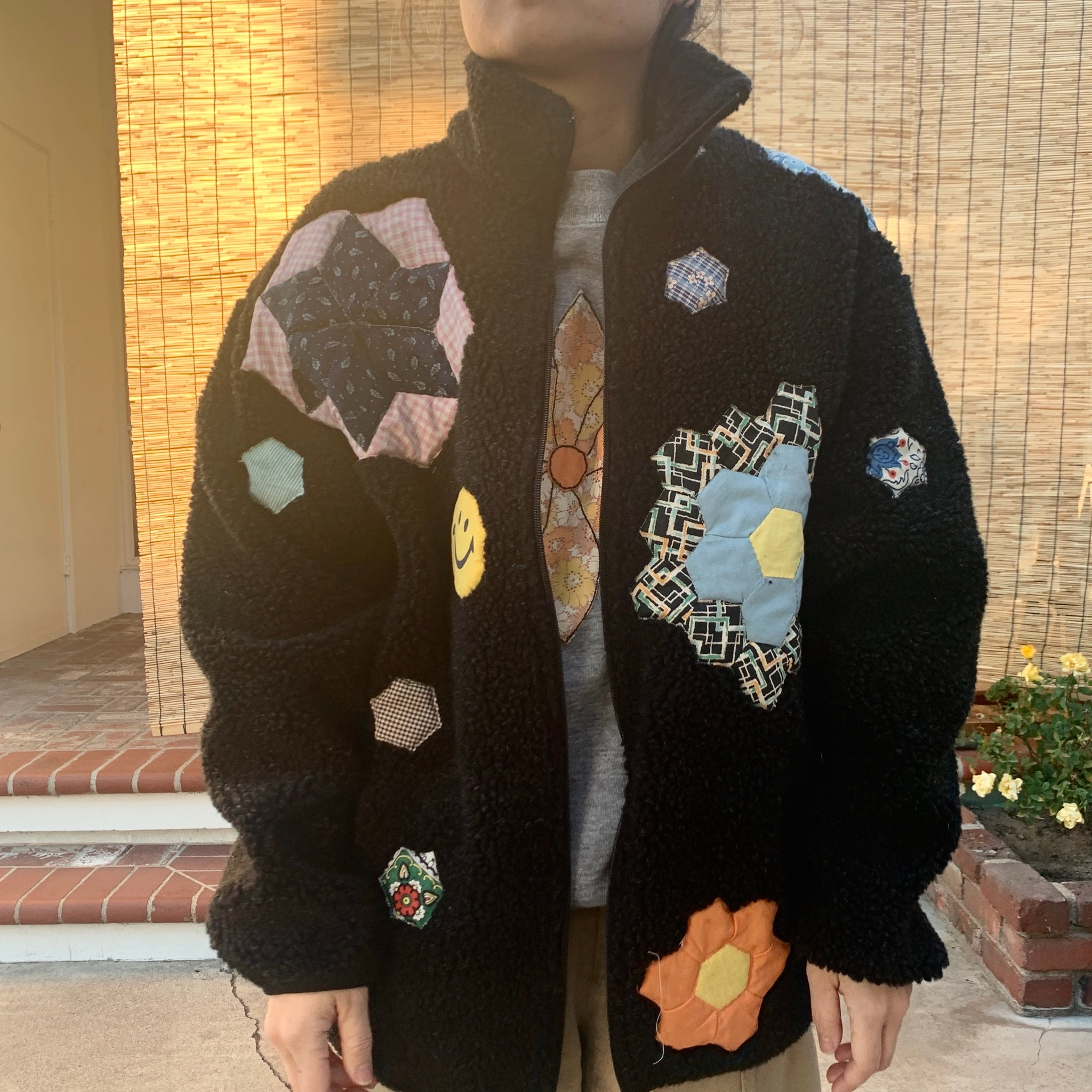 Polar Fleece Pullover - Quilted appliqué
