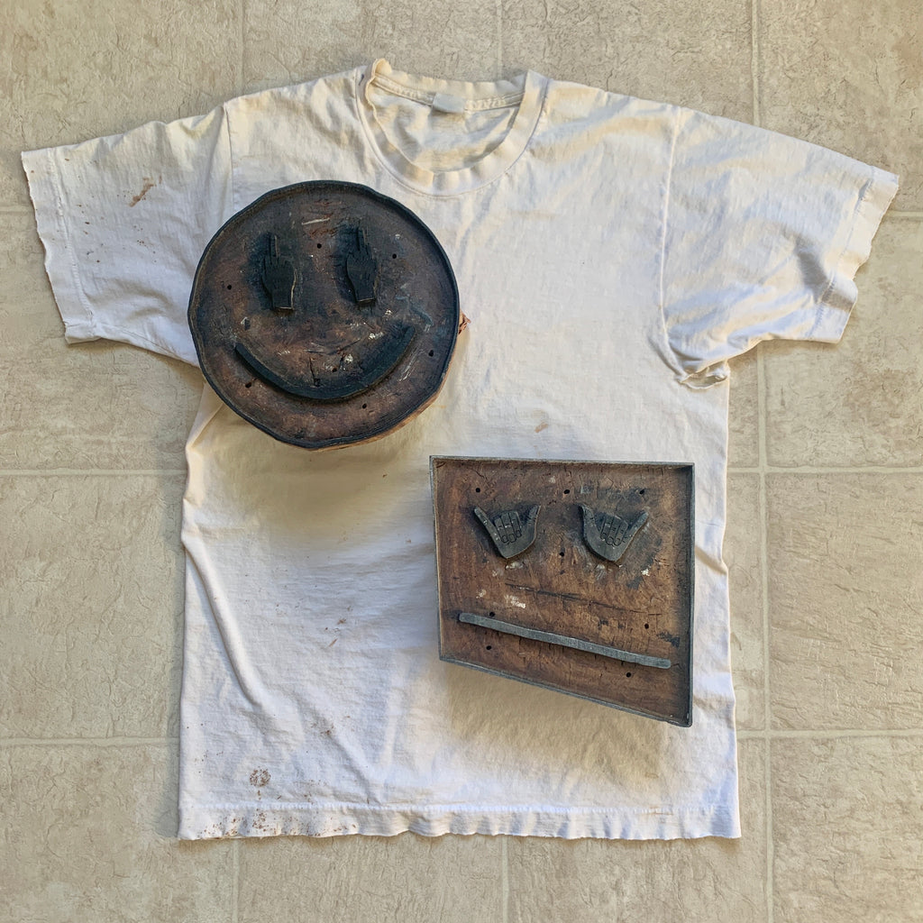 Pick your Woodblocked stamp on a vintage tee