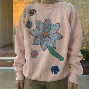 Sweatshirt- Quilted appliqué