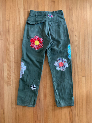 Military Pants - Grandmothers flower garden