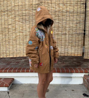 Duck Canvas Jacket - Quilted appliqué