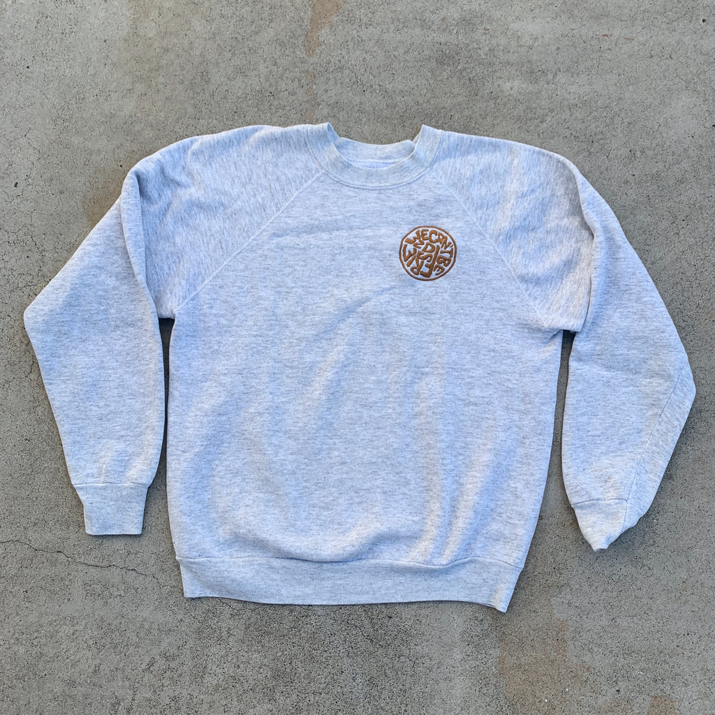 'Not Friends' Embroidered Sweatshirt - Heather Grey