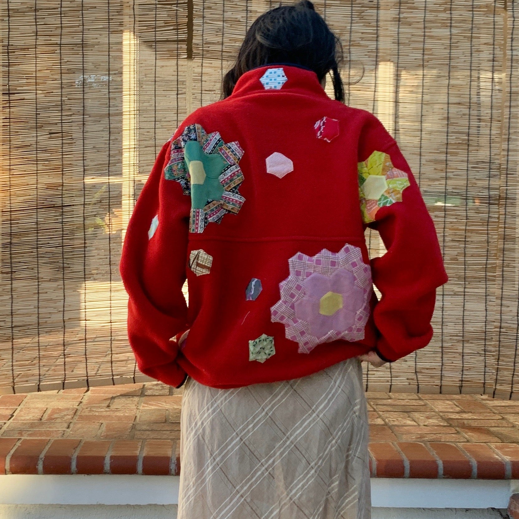 Polar Fleece Jacket - Quilted appliqué
