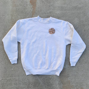 'Not Friends' Embroidered Sweatshirt - Ivory